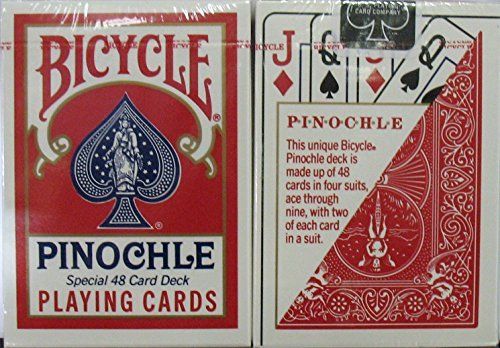 Bicycle Pinochle Cards - Poker Size (Red)
