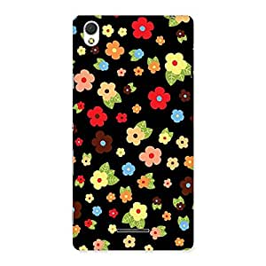 Enticing Multicolor in Black Back Case Cover for Sony Xperia T3