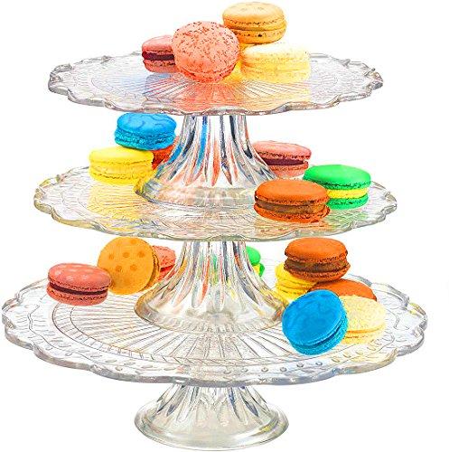 Glassware Elegant 3 in 1 Cake Stand