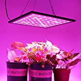KINGBO Reflector 45W LED Grow Light Panel 225 LEDs 6-Band Full Spectrum Includ UV IR with Switch for Indoor Plants Seeding & Growing & Flowering