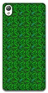 The Racoon Lean printed designer hard back mobile phone case cover for Sony Xperia Z3. (Green Fiel)