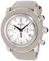 Glam Rock Unisex GR11105-NV Miami Chronograph Diamond Accented White Mother-Of-Pearl Dial Watch