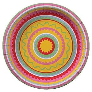 Meri Meri Fiesta Fun Paper Plates, 12-Pack