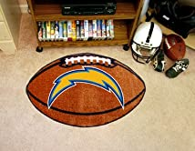 NFL San Diego Chargers Football Shaped Accent Floor Rug