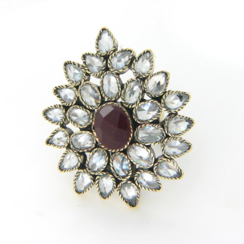 Exclusive Victorian Ring with Red Gem