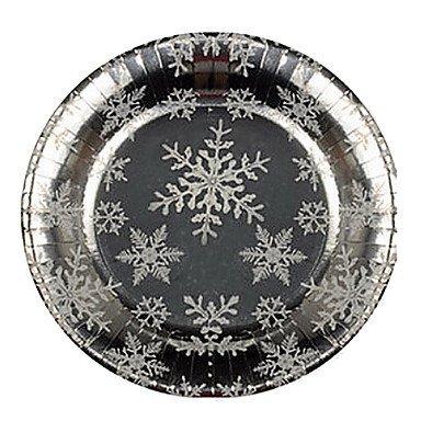 TTOMI motif de flocon de neige jetable assiettes en papier 20pcs / sac