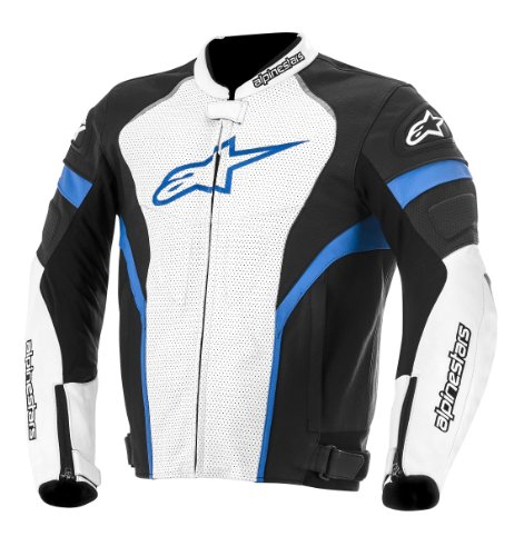 Alpinestars GP Plus R Perforated Leather Jacket Black/White/Blue 48 3100614-127-48