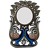 Ghanshyam Art Wood Peacock Wall Mirror (30.48 Cm X 4 Cm X 45.72 Cm, GAC073)
