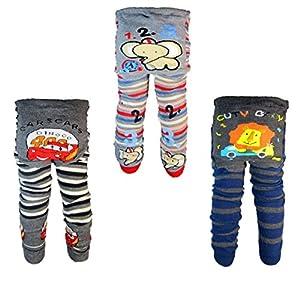 [Backbuy] 3 Pants 0-24 Months Baby Boys Toddler Leggings trousers Knitted pants D4D5E2 (0-12 Months) from Backbuy