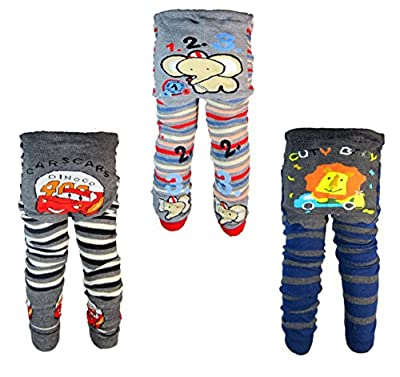 [Backbuy] 3 Pants 0-24 Months Baby Boys Toddler Leggings trousers Knitted pants D4D5E2 (18-24 Months) from Backbuy