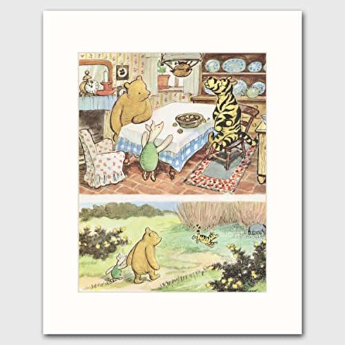Vintage winnie the pooh decor tigger and pooh for Classic winnie the pooh wall mural