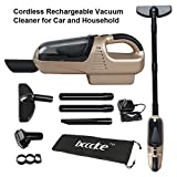 Rechargeable Cordless Car&HouseHold Dry Vacuum Cleaner, Bcccke Whirlwind Function 7.2V 60W Ni-CD 1300MA Suction:3.0KPA Dust Buster Cordless Rechargeable 5-in-1 Vacuum Cleaner Vacuum Cleaner