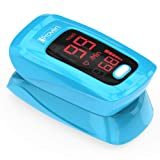 Pulse Oximeter Fingertip - iProven OXI-27 Blue - Monitor Your Blood Oxygen (O2) Saturation Levels - with Heart Rate Detection - Oximetro De Pulso - Oximeter with Pulse Indicator - 2019 Best Accuracy