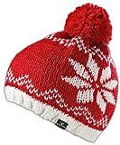 Acquista Black Canyon - Cappello lavorato a maglia, con pon pon, bicolore, Rosso (rosso), Taglia unica