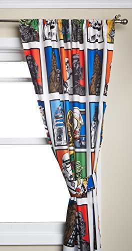 lucas film star wars drapes 42 x63 each 2 panels. Black Bedroom Furniture Sets. Home Design Ideas