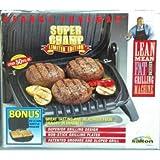 Vintage George Foreman Super Champ Limited Edition Indoor Grill w/ Bonus Waffle Maker Grwm14