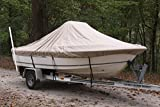 """VORTEX HEAVY DUTY TAN / BEIGE CENTER CONSOLE BOAT COVER FOR 17'7"""" - 18'6"""" BOAT (FAST SHIPPING - 1 TO 4 BUSINESS DAY DELIVERY)"""