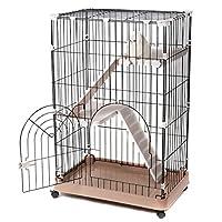 "Favorite 3-Tier Standard Cat Metal Crate Cage, Single Door, 29"" by 19"" by 43"""