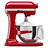 KitchenAid Certified Refurbished RKSM6573ER 6-Qt. Professional Bowl-Lift Stand Mixer - Empire Red (Color: Empire Red, Tamaño: 6-Quart)
