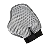 ColorPet Dog & Cat Grooming Glove Brush Mitt for Long and Short Hair - The Better Pet Groomer Mitt Gentle Brush Alternative Message Tools for Dog, Cat in Happy and Health (Grey)