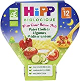 Hipp Biologique Mon Dîner Bonne Nuit Pâtes Etoilées Légumes Méditerranéen dès 12 mois - 6 assiettes de 230 g