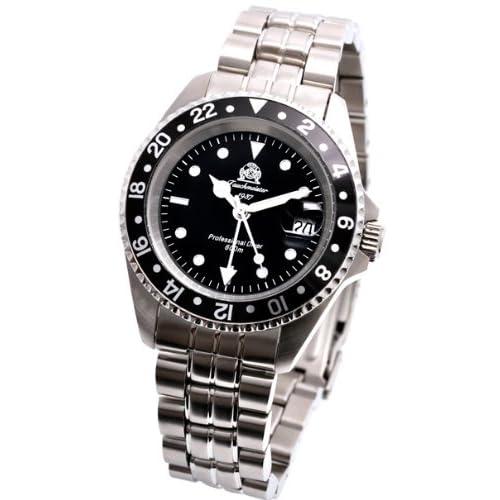 [トーチマイスター1937]Tauchmeister1937 腕時計 ドイツ製プローダイバーズ U-BOOT 600M防水サブマリーナ GMT T0021(並行輸入品)