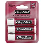 ChapStick Classic Skin Protectant/Sunscreen, SPF 4, Cherry, Value Pack, 3 - 0.15 oz (4 g) sticks