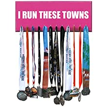I RUN THESE TOWNS Runrilla Race Medal Hanger