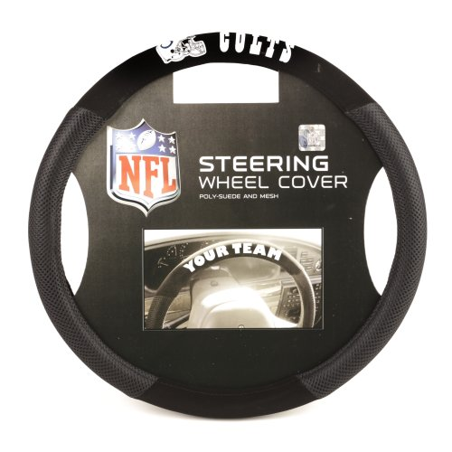 NFL Indianapolis Colts Poly-Suede Steering Wheel Cover (Colts Tire Cover compare prices)