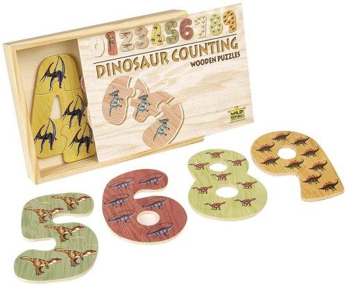 Dinosaur Wooden Counting Puzzle - Buy Dinosaur Wooden Counting Puzzle - Purchase Dinosaur Wooden Counting Puzzle (Wild Republic, Toys & Games,Categories,Preschool,Pre-Kindergarten Toys,Puzzles)