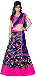Vaidehi Fashion Women's Net Lehenga Choli (Blue)