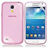 PINK FOR SAMSUNG GALAXY S4 MINI i9190 0.5MM ULTRA THIN TRANSPARENT FROSTED TPU GEL CASE COVER+SCREEN PROTECTOR -PART OF JJONLINESTORE ACCESSORIES