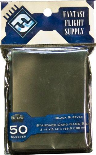 Card Sleeves: Standard Black (50 Sleeves Pack) - 1