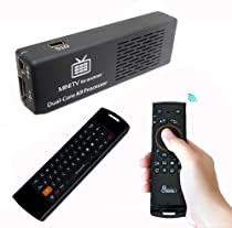 Mini Computer 1080P Andriod 4.1 MK808 Dual Core Rk3066 Cortex-A9 Mini PC WiFi TV Box + 2.4G Mele F10 Wireless Air Fly Mouse