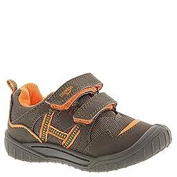 OshKosh Zula-B Boys Infant-Toddler Slip On 7 M US Toddler Brown-Orange-Nubuck