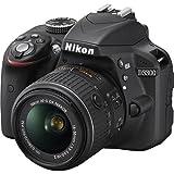 Nikon D3300 24.2 MP CMOS Digital SLR with Auto Focus-S DX NIKKOR 18-55mm f/3.5-5.6G VR II Zoom Lens (Black)
