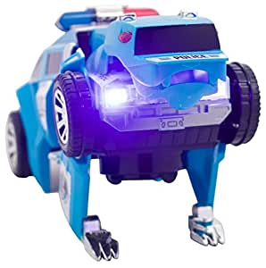 Techege Toys Techege Toys Transforming Bumpn Go Police Car Transformer Kids Lights And Sounds Fun Police Squad Bear
