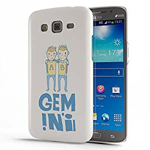 Koveru Designer Printed Protective Snap-On Durable Plastic Back Shell Case Cover for Samsung Galaxy GRAND 2 - Gemini