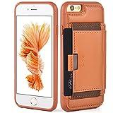 ZVE iphone用 復古型 本革ケース スタンド機能付き (ブラウン iphone6 /iphone6s)