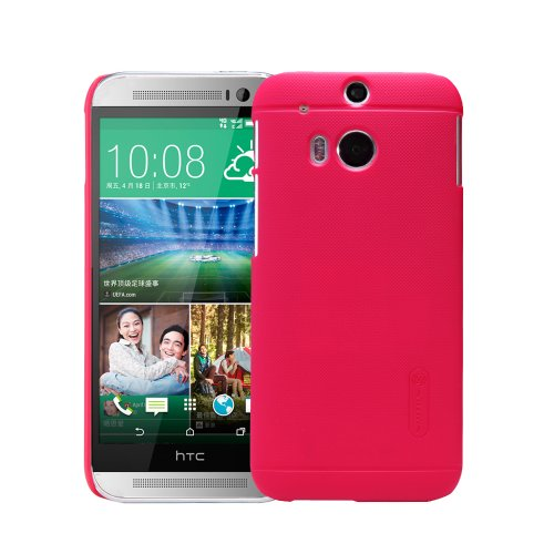 Moon Monkey Well-Selected Classical Grain Line Ultra-Thin Slim Cover Case For Htc One2/M8 (Red)
