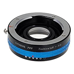 Fotodiox Y(230AF)-NK-G Pro Lens Adapter, Yashica AF Lens to Nikon with Aperture Control and Focus Correction Glass, Fits D4s, D750, D3300 (Black)
