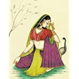"Dolls Of India ""Rajput Beauty"" Reprint On Paper - Unframed (29.21 X 24.13 Centimeters)"