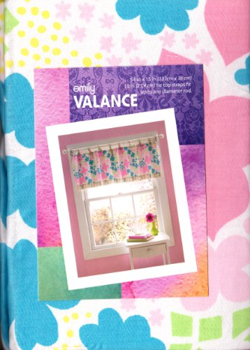 Emily Floral Tie Top Window Valance