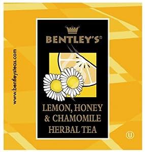 Bentley's Finest Tea Lemon Honey and Chamomile Herbal Tea Box, 50 Count