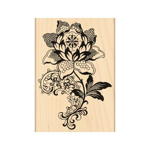 Penny Black Rubber Stamp 3X4.25 Lace Flower