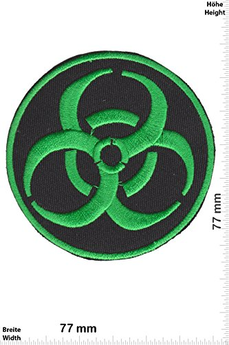 Patch - BIOHAZARD VIRUS - green - Musica - Biohazard - Biohazard- toppa - applicazione - Ricamato termo-adesivo - Give Away""