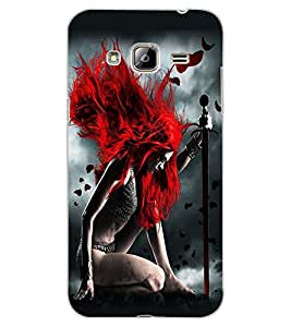 ColourCraft Warrior Girl Design Back Case Cover for SAMSUNG GALAXY J3 (2016)