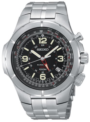 Seiko Men'S Sun009 Kinectic Flight Computer Watch