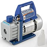 1/3HP Rotary Vane Deep Vacuum Pump 3CFM R410a R134 HVAC AC Air Tool Freon Charge