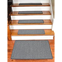 Dean Non-Slip Tape Free Pet Friendly Stair Gripper Natural Fiber Sisal Carpet Stair Treads - Island Gray 29